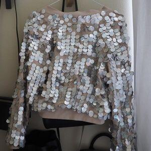 Dolls Kill Jackets & Coats - Dolls Kill Sequin Bomber Jacket